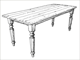 Tisch gezeichnet  zeichnung tisch – Com.ForAfrica